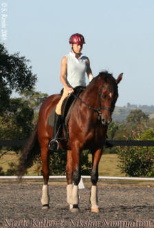 Nicole Kullen & Nikshar Nomination training with the National Coach the day before the Selection Trials March 2008.