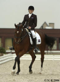 Nicole Kullen riding 'Nomination' in Belgium at the CPDI**** First International Combined Festival of Dressage and Paralympic Qualifier event for the 2008 Beijing Paralympics